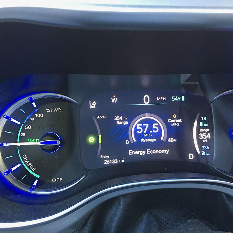 Great mileage of EV Minvan Dashboard